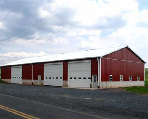 50' x 80' x 16' high Farm Shop with Poured Concrete Wall Foundation