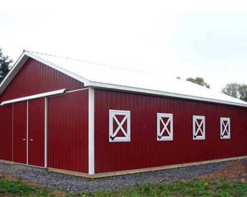 30' x 40' x 10' high Pole Building