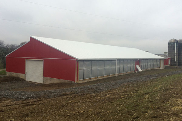 60' x 205' NRCS Building with Curtain