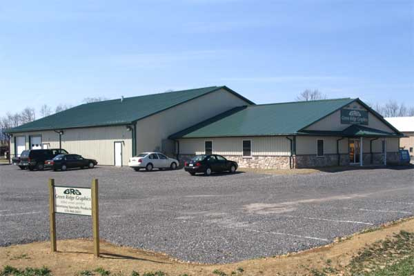 Green Ridge Graphics. 70' x 60' Manufacturing area. 56' x 44' Office area