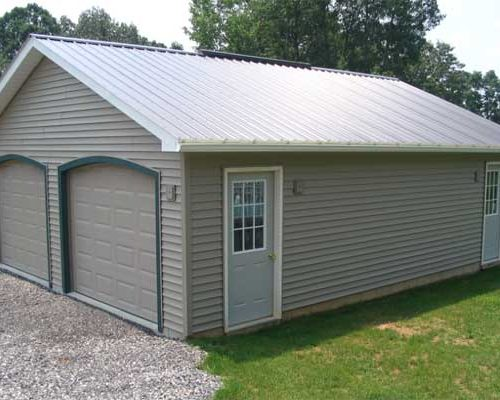 24' x 30' x 8' 2-Car Garage with Concrete Block Foundation