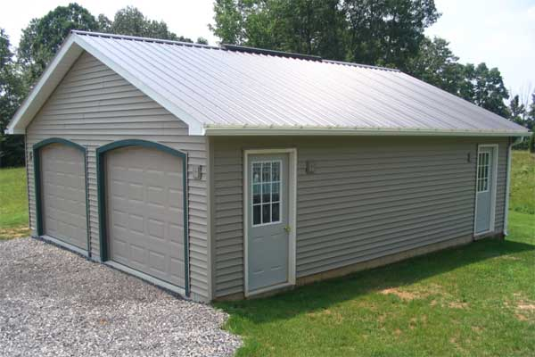 24' x 30' x 8' 2-Car Garage with Concrete Block Foundation