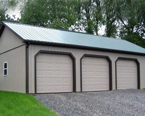 24' x 40' x 10' high 3-Car Garage