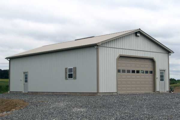 30' x 48' x 12' high Garage with Block Foudation and 2x6 Stud Walls