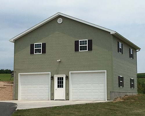 Garages by martin s construction of mifflinburg llc for Two story two car garage