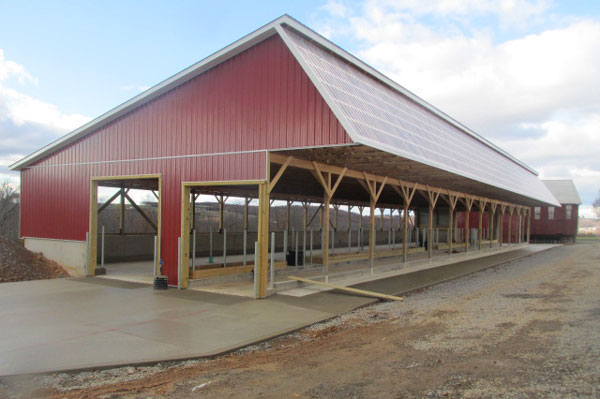56' x 156' x1 4' high Heifer Barn