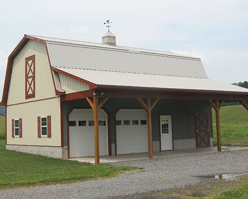 Garages by martin s construction of mifflinburg llc for Barn style carport