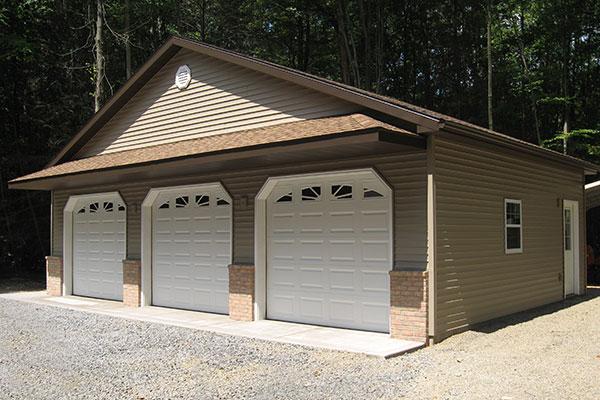 New 3-car garage